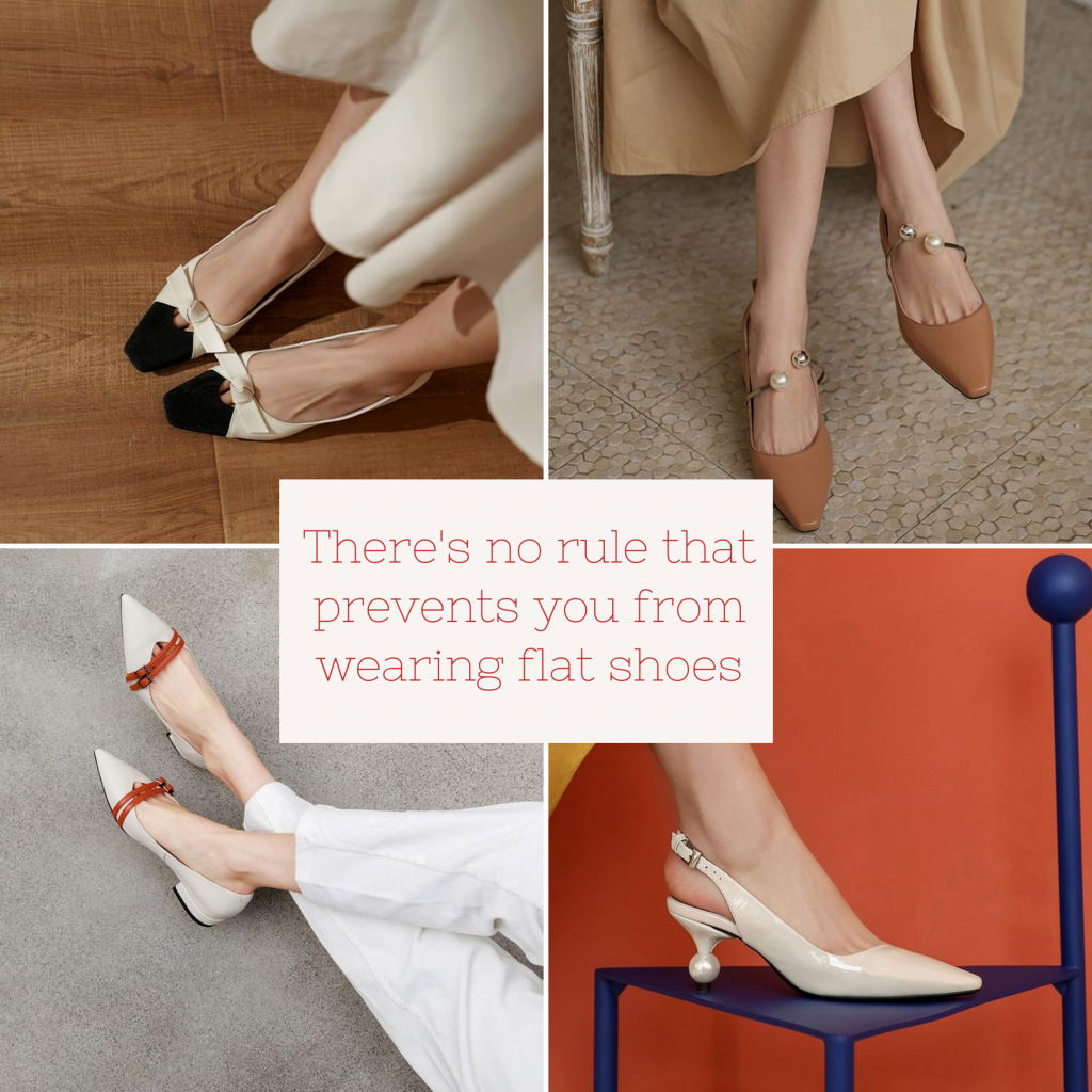 flat shoes at wedding