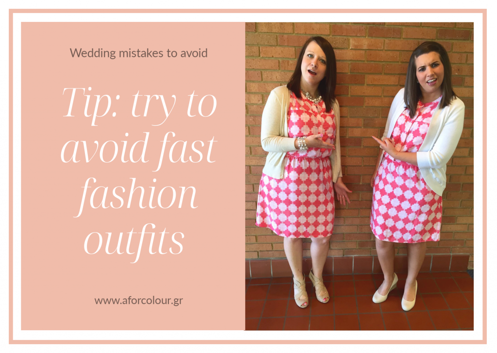 do not buy fast fashion outfits when going on wedding
